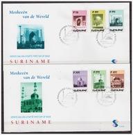Surinam / Suriname 1997 FDC 207ab Moskee Mosque Moschee Mosquee Taj Mahal - Surinam