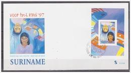 Surinam / Suriname 1997 FDC 210a Kind Child Kinder Enfent S/S - Suriname