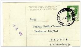Backo Petrovo Selo Cansel On Tito Post Card And CENZOR - Yugoslavia