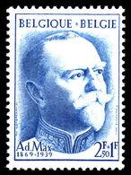 Belgium 1957 Burgomaster Adolphe Max  Unmounted Mint. - Belgium