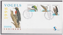 Surinam / Suriname 1998 FDC 214 Papegaai Parrot Papagei Papegai Woodpecker Specht Pic - Surinam