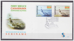 Surinam / Suriname 1998 FDC 215 Veerboot Ferry Fahrdampfer Bac To Guyana - Surinam