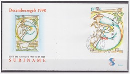 Surinam / Suriname 1998 FDC 220a Kerstmis Christmas Weihnachten Noel Bird S/S - Surinam