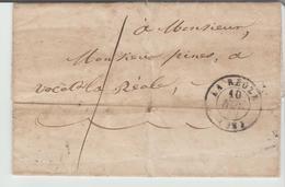 "GIRONDE: "" LA REOLE "" CàD Type 15 + TM 1 / LAC De 1849 B - Postmark Collection (Covers)"