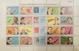L) 1991 CUBA, MUSIC, MUSICAL INSTRUMENTS, HARP, FOUR, MARACAS, LATIN AMERICAN HISTORY, TRUMPET, JULIAN AGUIRRE, CHARANGO - Unused Stamps