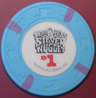 $1 Casino Chip. Silver Nugget, N. Las Vegas, NV. G95. - Casino