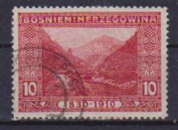 BOSNIA EZERGOVINA POSTA MILITARE 1910  GENETLIACO IMPERATORE D'AUSTRIA UNIF. 50 USATO VF - Bosnia And Herzegovina