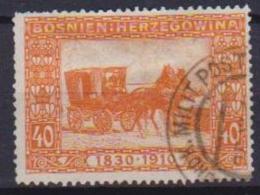 BOSNIA EZERGOVINA POSTA MILITARE 1910  GENETLIACO IMPERATORE D'AUSTRIA UNIF. 55 USATO VF - Bosnia And Herzegovina