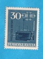 1956 793 C  JUGOSLAVIJA JUGOSLAWIEN JUGOSLAVIA NIKOLA TESLA RARO PERFORATION 12 1-2  MNH - Imperforates, Proofs & Errors