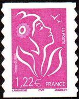 France Marianne De Lamouche Autoadhèsif N°   53 C ** Au Modèle3757 - Légende ITFV 1.22 Eur. Dentelé Ondulé 2 Cotés - 2004-08 Marianne Of Lamouche