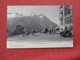 Terrasse De Hotel Riffelalp Stamp & Cancel=ref 2933 - VS Valais