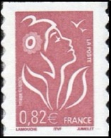 France Marianne De Lamouche Autoadhésif N°   53 A ** Au Modèle 3757 - Légende ITFV 0.82 Eur. Dentelé Ondulé 2 Cotés - 2004-08 Marianne Of Lamouche