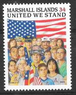 Marshall Islands - Timbre Neufs ** ,MNH, Comémorant Le 11 Septembre - Drapeau, Flag USA - Militaria