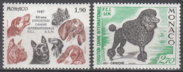 MONACO     SCOTT NO . 1573-74    MNH     YEAR  1987 - Unused Stamps