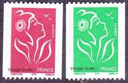 France Marianne De Lamouche N° 3742 ** Et 3743 ** Roulettes TVP, Légende ITFV - 2004-08 Marianne Of Lamouche