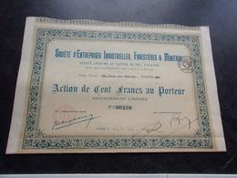 ENTREPRISES INDUSTRIELLES FORESTIERES ET MINIERES (1923) - Shareholdings