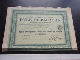 Travaux DYLE ET BACALAN (capital 16,2 Millions) 1912 - Shareholdings