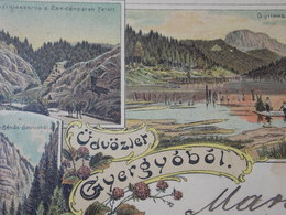 Cpa Postcard - ROMANIA ROUMANIE - 1928 LITHO GHEOGHENI Gyergyobol Multi View - Romania