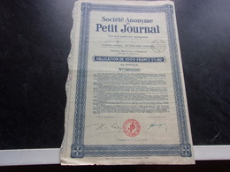 PETIT JOURNAL (1931) - Shareholdings