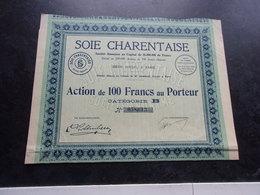 SOIE CHARENTAISE (1928) - Shareholdings