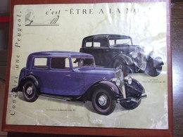Automobiles - Prospectus Voiture Peugeot 201 - Année 1934 - Conduire Une Peugeot , C'est être à La Mode - Brochure - Publicidad