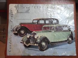 Automobiles - Prospectus Voiture Peugeot 301 - Année 1934 - Conduire Une Peugeot , C'est être à La Mode - Brochure - Publicidad