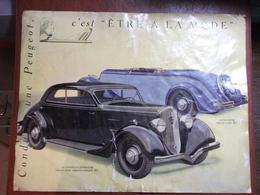 Automobiles - Prospectus Voiture Peugeot 301 Grand Luxe - 1934 - Conduire Une Peugeot , C'est être à La Mode - Brochure - Publicidad