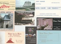 LOT DE 12 CARTES HOTEL FRANCE DIFFERENTES -                                            TDA259 - Cartoncini Da Visita