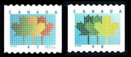 Canada (Scott No.1878-1927 - Maple Leaf) (o) 47¢ And 48¢ Coil - 1952-.... Règne D'Elizabeth II