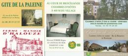 LOT DE 5 CARTES GITES ET CHAMBRES D HOTES FRANCE DIFFERENTES -                                            TDA259 - Cartoncini Da Visita