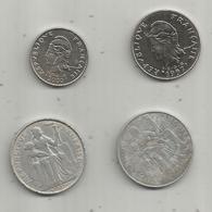 Monnaie , POLYNESIE FRANCAISE , 20 F 1997; 10 F 2000; 5 F 1975; 5f 2008; 2 Scans, LOT DE 4 MONNAIES - Frans-Polynesië
