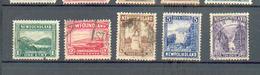 E 60 - TERRE NEUVE - YT 117-118-119-121-127 ° Obli - 1908-1947