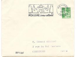 1712 - MEAUDRE - Poststempel (Briefe)