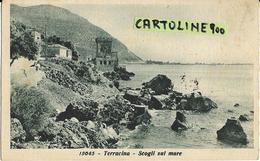 Lazio-latina-terracina Veduta Scogli Sul Mare Anni 40 - Altre Città