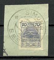 Estland Estonia 1919 Michel 11 O SIMUNA - Estonia