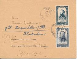France Cover Sent To Germany Sedan Ardennes 28-7-1948 Good Franked - France
