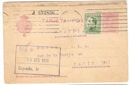 1734 - Entier Pour La France - 1931-Heute: 2. Rep. - ... Juan Carlos I