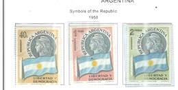 Argentina PO 1958 Simbolo Repubblica  Scott.673/675+ See Scan On Scott.Page - Nuovi