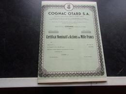 COGNAC OTARD (maison OTARD-DUPUY) Chateau De Cognac,charente - Shareholdings