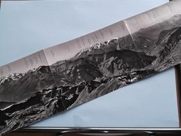 VERBIER ( 2727 M.) Panorama Des ATTELAS ( Edit. Photo DANY Verbier ) Anno 19?? ( Voir Photo / Plier On 3 ) ! - VS Valais