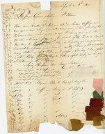 RHONE 1837 LAC TYPE 14 LYON ENVOIE ECHANTILLON DE TAFFETAS (SOIE) - 1801-1848: Vorläufer XIX