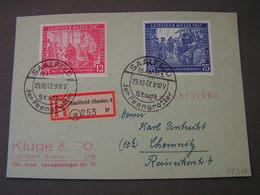 Saafeld 1947 Card - Sowjetische Zone (SBZ)