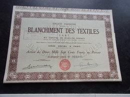 BLANCHIMENT DES TEXTILES (2700 Francs) - Shareholdings