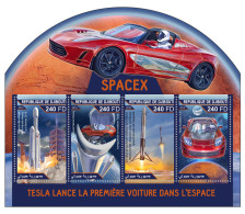DJIBOUTI 2018 MNH** Tesla SPACEX Space Raumfahrt Espace M/S - IMPERFORATED - DH1815 - Space
