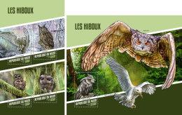 NIGER 2018 MNH** Owls Eulen Hiboux M/S+S/S - OFFICIAL ISSUE - DH1815 - Uilen