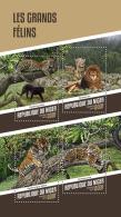 NIGER 2018 MNH** Big Cats Großkatzen Raubkatzen Grands Felins M/S - IMPERFORATED - DH1815 - Raubkatzen