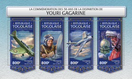 TOGO 2018 MNH** Yuri Gagarin Space Raumfahrt Espace M/S - OFFICIAL ISSUE - DH1815 - Space