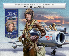 TOGO 2018 MNH** Yuri Gagarin Space Raumfahrt Espace S/S - OFFICIAL ISSUE - DH1815 - Space