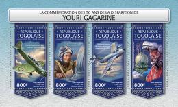 TOGO 2018 MNH** Yuri Gagarin Space Raumfahrt Espace M/S - IMPERFORATED - DH1815 - Space