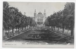 (RECTO / VERSO) MONTE CARLO EN 1902 - N° 488 - CASINO ET JARDINS - TIMBRE ET CACHET DE MONACO - CPA - Spielbank